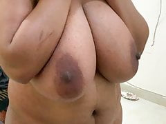 Huge boobs malu Aunty shy 2