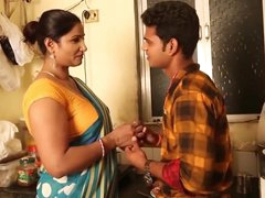 Hot Aunty Seduces junior..