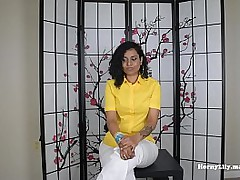 Desi HornyLily seduces boss..